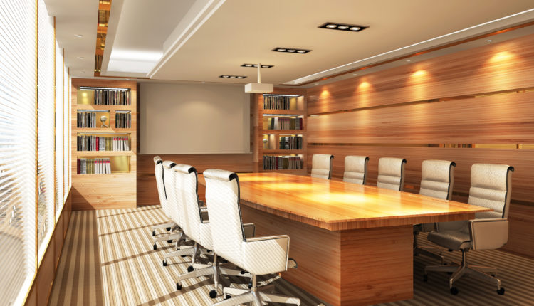 Office meeting room with many lighting options